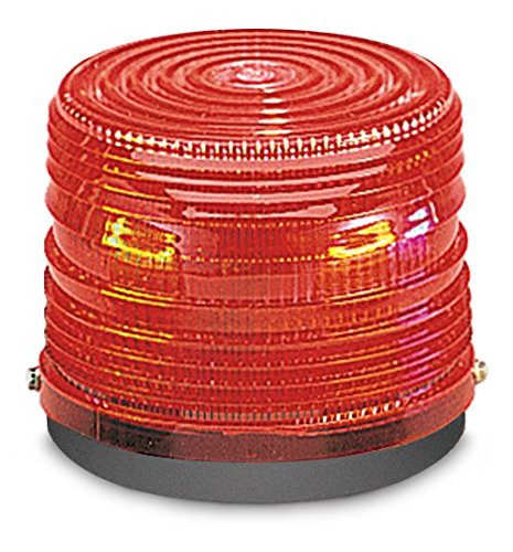 Federal-Signal-141ST-120R-Electra-Flash-Strobe-Warning-Light-Single-Flash-Surface-or-Pipe-Mount-120-VAC-Red-0