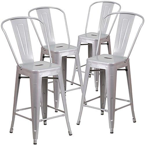 Flash-Furniture-Metal-IndoorOutdoor-Stool-4-Pack-24-Silver-0