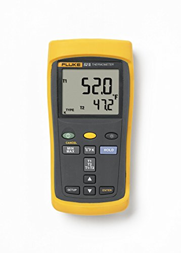 Fluke-50-Series-II-Digital-Thermometer-3-AA-Battery-418-to-2501-Degree-F-Range-0