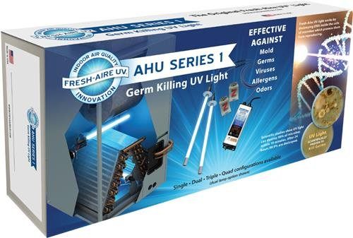 Fresh-Aire-AHU-Series-TUV-100D-I-110-277-Volt-Remote-Dual-Lamp-UV-System-1-year-Bulb-and-a-Magnetic-Z-Mounting-Bracket-0-1