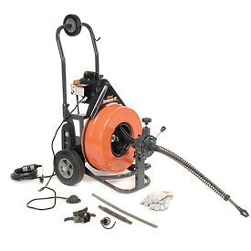 General-Wire-Speedrooter-92-DrainSewer-Cleaning-Machine-W100X34-Cable-8-Pc-Cutter-SetPs-92-C-0