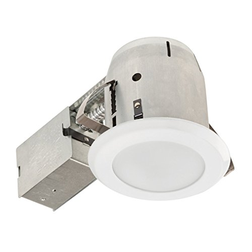Globe-Electric-LED-Integrated-IC-Rated-Shower-Recessed-Lighting-Kit-Bathroom-Dimmable-Downlight-with-Frosted-Glass-and-Bulb-Included-0