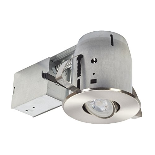 Globe-Electric-LED-Integrated-IC-Rated-Swivel-Spotlight-Square-Recessed-Lighting-Kit-Diecast-Dimmable-Downlight-with-Bulb-Included-0-0