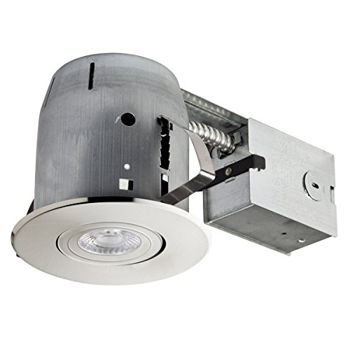 Getting To Grips With Ceiling Lighting: Globe Electric LED Integrated IC Rated Shower Recessed Lighting Kit Bathroom Dimmable Downlight