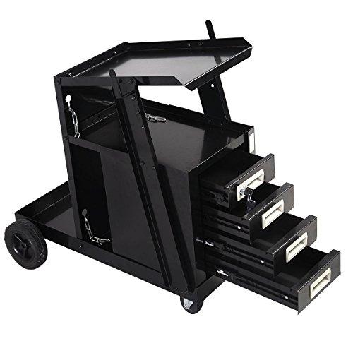 Goplus-Welding-Welder-Cart-MIG-TIG-ARC-Plasma-Cutter-Tank-Storage-w-4-Drawer-Cabinet-0-0
