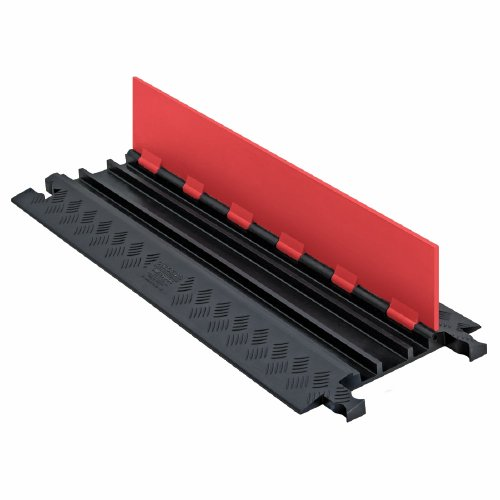 Guard-Dog-GD3X75-ST-OB-Polyurethane-Heavy-Duty-3-Channel-Low-Profile-Cable-Protector-with-Standard-Ramp-Orange-Lid-with-Black-Ramp-36-Length-138-Width-125-Height-0