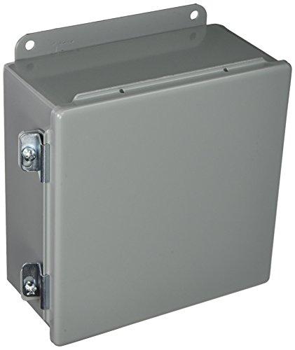Hoffman-A808CH-J-Box-NEMA-12-Hinged-Cover-Steel-8-x-8-x-4-Gray-0