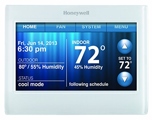Honeywell-TH9320WF5003-Wi-Fi-9000-Color-Touch-Screen-Programmable-Thermostat-White-4-x-6-0