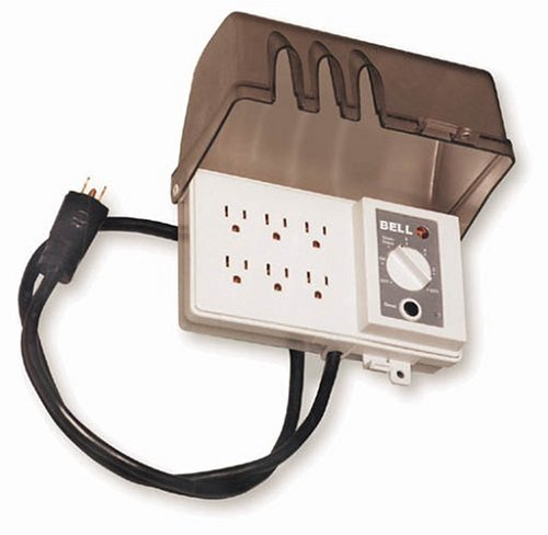 hubbell all weather 30 inch 6 grounded outdoor outlet strip with photocell and 6 position timer. Black Bedroom Furniture Sets. Home Design Ideas