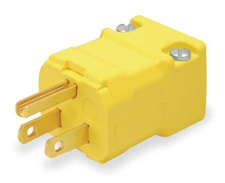 Hubbell-HBL5965VY-Valise-Plug-15-amp-125V-5-15P-Yellow-Pack-of-10-0