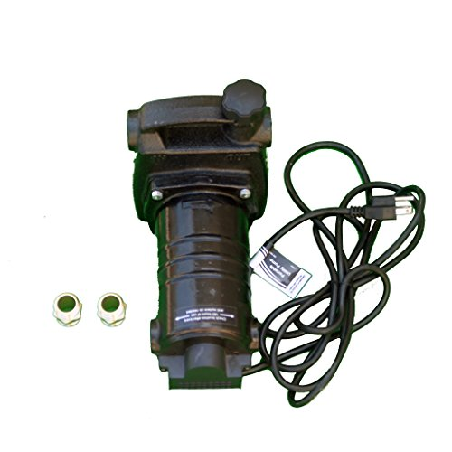 HydraPump-Pro-115-volt-12HP-1450-GPH-Portable-Transfer-Water-Pump-with-Cast-Iron-Casing-and-Brass-Connectors-for-Use-with-Standard-34-Hose-0-0