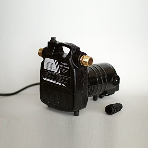 HydraPump-Pro-115-volt-12HP-1450-GPH-Portable-Transfer-Water-Pump-with-Cast-Iron-Casing-and-Brass-Connectors-for-Use-with-Standard-34-Hose-0