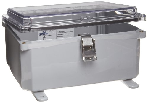 Integra-H10084HCLL-Premium-Line-Enclosure-Hinged-Locking-Latch-Cover-Clear-Cover-Mounting-Feet-10-Height-8-Width-4-Depth-0