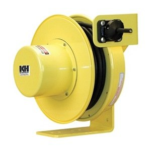 KH-Industries-RTF-Series-ReelTuff-Industrial-Grade-Retractable-Power-Cord-Reel-124-SOOW-Cable-16-Amp-30-Length-Yellow-Powder-Coat-Finish-0