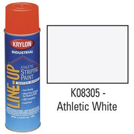 Krylon-K08305-Krylon-Industrial-Line-Up-Wb-Athletic-Field-Striping-Paint-Athletic-White-Lot-of-12-0