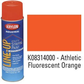 Krylon-K08314000-Krylon-Industrial-Line-Up-Wb-Athletic-Field-Striping-Paint-Fluor-Orange-Lot-of-12-0