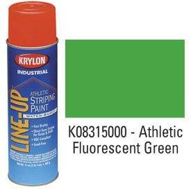 Krylon-K08315000-Krylon-Industrial-Line-Up-Wb-Athletic-Field-Striping-Paint-Fluor-Green-Lot-of-12-0