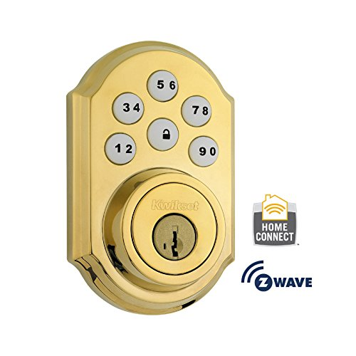 Kwikset-910TRL-ZW-L03-SMT-Traditional-Deadbolt-with-Z-Wave-Technology-Polished-Brass-0