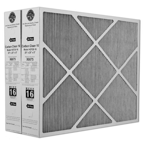 Lennox-X6675-Carbon-Clean-16-MERV-16-Filter-20-Inch-x-25-Inch-x-5-Inch-2-Pack-0