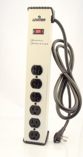 Leviton-5100-IPS-120-Volt-15-Amp-Surge-Protected-6-Outlet-Strip-with-Switch-Heavy-Duty-6-Ft-Beige-0