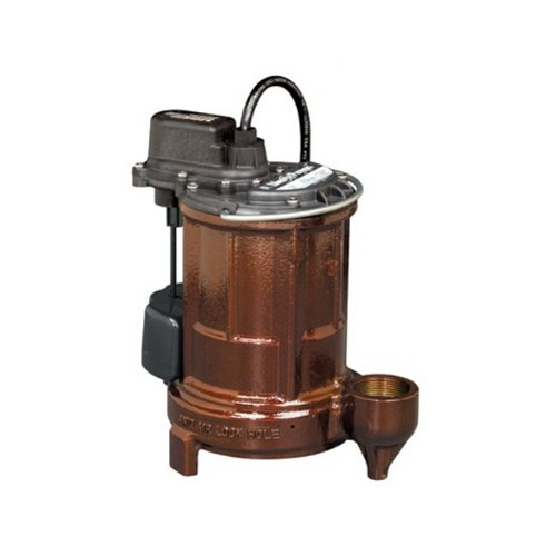 Liberty-Pumps-257-13-Horse-Power-1-12-Inch-Discharge-250-Series-Cast-Iron-Automatic-Submersible-SumpEffluent-Pump-with-VMF-Switch-0