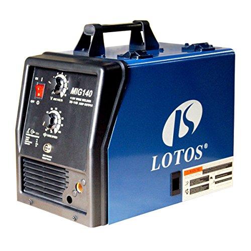 Lotos-MIG140-140-Amp-Mig-Wire-Welder-Flux-Cored-and-Aluminum-Gas-Shielded-Welding-BlueBlack-0
