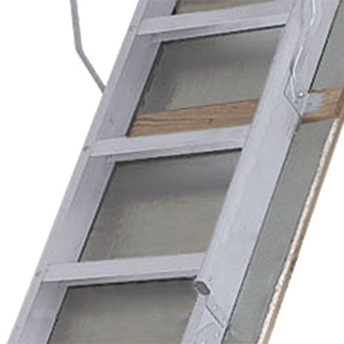 Louisville-Ladder-Everest-Aluminum-Attic-Ladder-350-Pound-Capacity-255-Inch-by-63-Inch-Opening-Ceiling-Heights-10-Foot-To-12-Foot-0-1