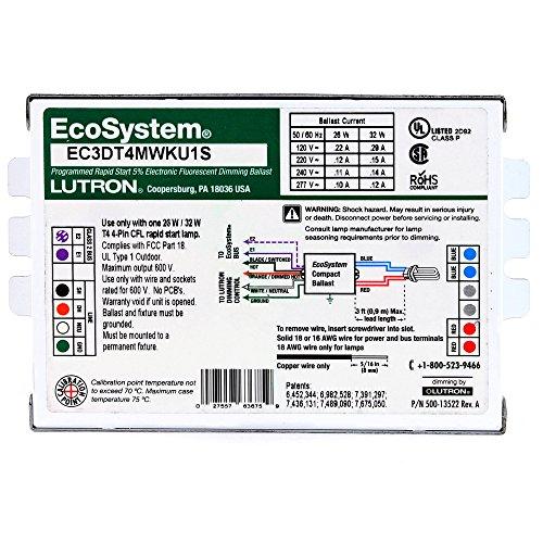 Lutron-Ec3Dt4Mwku1S-Cfl-Dim-Ballast-T4-4-Pin-120-277V-1-Lamp-0