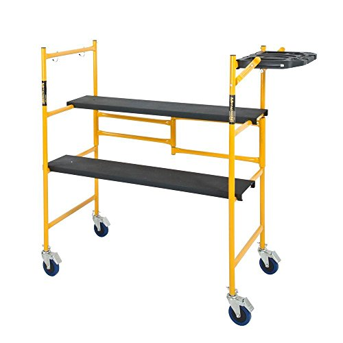 MetalTech-4-ft-x-4-ft-x-2-ft-Mini-Rolling-Scaffold-500-lbs-Capacity-with-Tool-Shelf-0