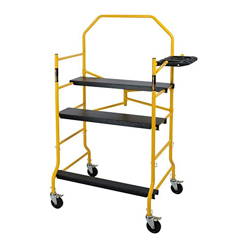 MetalTech-5-ft-Folding-900-lb-Capacity-Scaffold-with-Safety-Hand-Rail-and-Tool-Shelf-0