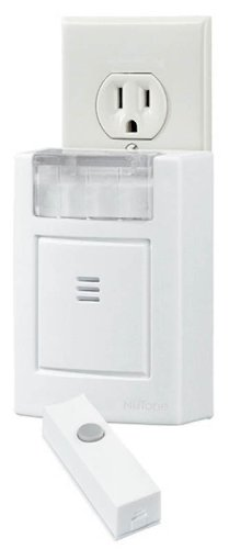 NuTone-LA204WH-Wireless-Plug-In-Door-Chime-with-Built-In-Strobe-Light-Receiver-and-Button-White-0