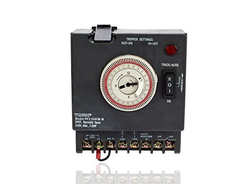 P1100-Series-Swimming-Pool-Timers-24-Hour-Electromechanical-Control-Fireman-Switch-and-PFPT-Thermostat-Input-240-VAC-Input-Supply-DPST-Contact-40A-ResistiveInductive-Rating-75-HP-0