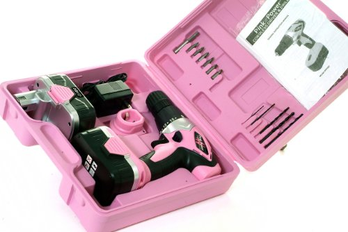 Pink-Power-PP182-18V-Cordless-Drill-Kit-for-Women-with-2-Batteries-Case-Charger-Bit-Set-0-1