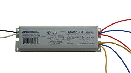 robertson 2p20132 quik pak of 10 fluorescent eballasts for 2 f40t12 linear ls preheat rapid