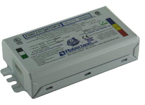 ROBERTSON-5P20145-PSM226CQMVDWCEST-Bulk-Pak-of-10-Fluorescent-Electronic-Ballasts-for-2-CFQ26WG24q-CFL-Lamps-Program-Start-120-277Vac-50-60Hz-Normal-Ballast-Factor-HPF-0-0