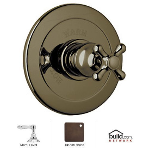 Rohl-ARB6400LMTCB-Country-Bath-Verona-Trim-Kit-for-Pressure-Balance-with-Integrated-Volume-Contro-with-Metal-Lever-Tuscan-Brass-0