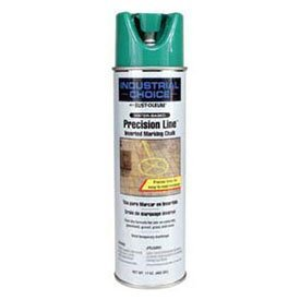Rust-Oleum-205238-Mc1800-Water-Based-Precision-Line-Inverted-Marking-Chalk-Aerosol-Apwa-Green-Lot-of-12-0