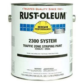Rust-Oleum-2348402-2300-System-100-Voc-Traffic-Zone-Striping-Paint-Yellow-1-Gallon-Lot-of-2-0