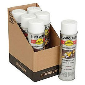 Rust-Oleum-2391838-2300-System-Inverted-Striping-Paint-Aerosol-White-Lot-of-6-0