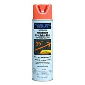 Rust-Oleum-257411-M1800-Water-Based-Precision-Line-Inverted-Marking-Paint-Aerosol-Apwa-Orange-Lot-of-12-0