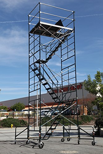 Scaffold Rolling Tower With Stairway Unit 5 X 7 X 20 8