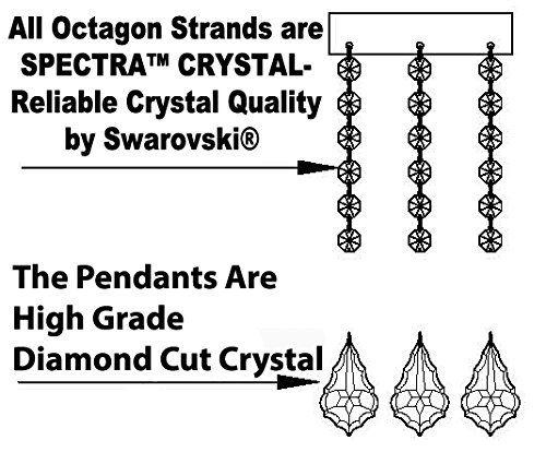 SWAROVSKI-CRYSTAL-TRIMMED-CHANDELIER-WROUGHT-IRON-CHANDELIER-WITH-CRYSTAL-H51-x-W49-PERFECT-FOR-AN-ENTRYWAY-OR-FOYER-0-0