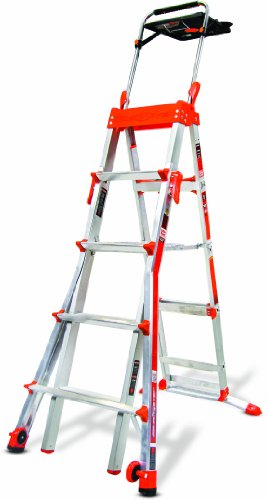 Select-Step-5-Feet-to-8-Feet-300-Pound-Duty-Rating-Adjustable-Step-ladder-0