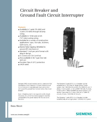 Siemens-Pole-240-Volt-type-Ground-Fault-Circuit-Interrupter-0-0