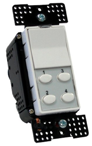 Simply-Automated-US2W12-Single-Rocker-and-4-Button-Oval-Dimming-Transceiver-In-Wall-Controller-White-0