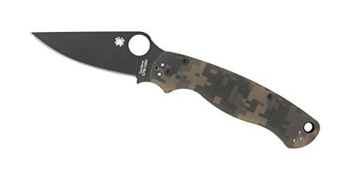Spyderco-ParaMilitary2-Camo-G-10-Black-Blade-PlainEdge-Knife-0