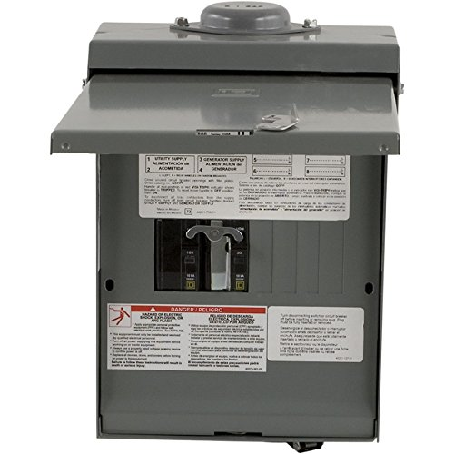Square-D-by-Schneider-Electric-QO1DM10030TRBR-30-Amp-Generator-Main-Breaker-Outdoor-Manual-Transfer-Switch-with-30-Amp-Twist-lock-Receptacle-0