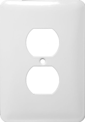 Stainless-Steel-Metal-Wall-Plates-Midsize-1-Gang-Duplex-Receptacle-White-Pkg-of-25-0