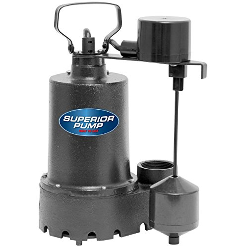 Superior-Pump-92341-13-HP-Cast-Iron-Sump-Pump-Side-Discharge-with-Vertical-Float-Switch-0