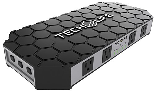 Tech-Life-THE-GRID-Power-Strip-Surge-Protector-Charger-9-High-Capacity-Power-Outlets-4-USB-Charging-Ports-for-21-Amps-for-FASTEST-CHARGING-Rugged-Non-Slip-Exterior-0